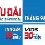 Chương trình khuyến mãi Toyota Thanh Xuân tháng 9 và 10